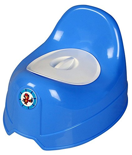 Sunbaby Potty Toilet Trainer Seat/Chair with Lid and High Back Support for Toddler Boys Girls (Age 7 Months to 3 Years) (Blue)