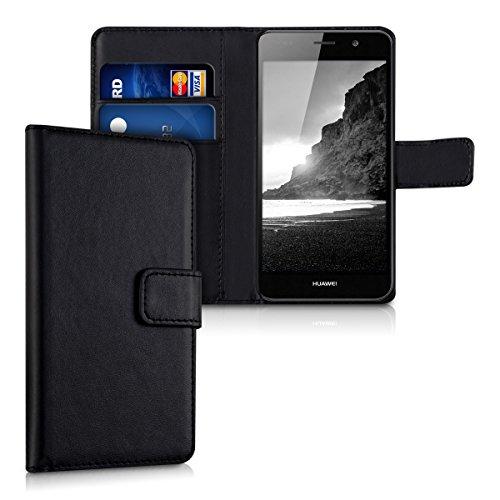 kwmobile Custodia compatibile con Huawei Y6 (2015) Custodia portafoglio - Cover a libro in simil pelle - Flip Case Custodia con porta carte
