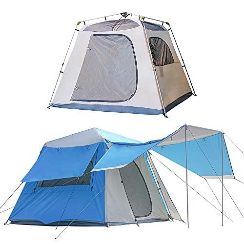 NatEtoile Tents for Camping 4 Person, Instant Cabin Tent 4-5 People, Easy Pop Up Family Camping Tent, Waterproof, Aluminum Poles, Double Layers, Windproof