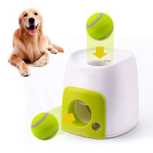 CJMING Automatischer Ballwerfer, Hund Ball Werfer, Lebensmittel Belohnung Maschine Werfer Hund Interaktives Spielzeug, Tennisball Für Hunde Trainingshaustier Ballwurfmaschine
