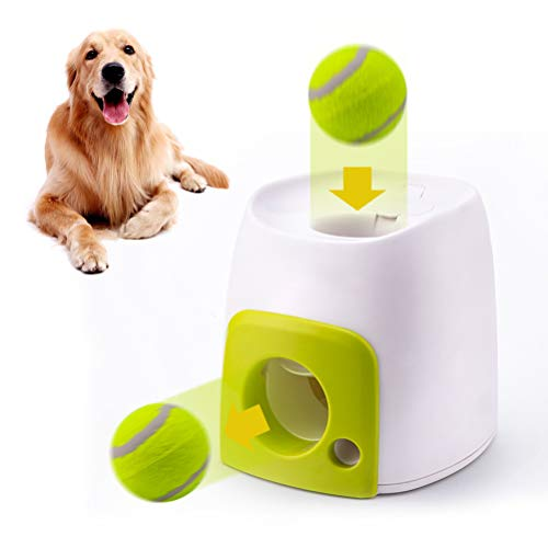 Mekta Hund Interaktives Training Smart Feeder Dog Intelligence Snack Machine, Automatische Hund Ball Launcher Hund Ball werfen Spielzeug interaktive Haustier Spielzeug