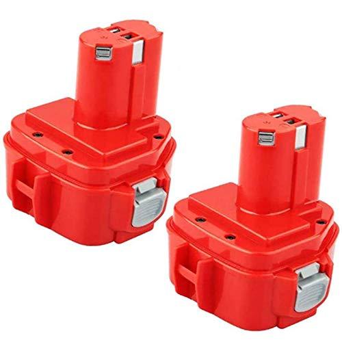 3.6Ah Replacement for Makita 12V Battery NI-MH 1220 1200 1201 1222 1233 1234 1235 1233S 1233SA 1233SB PA12 193157-5 192681-5 192598-2 12 Volt Cordless Power Tools (2-Pack)
