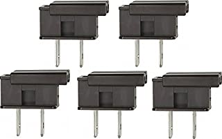 Creative Hobbies SPLUGBR, Easy Snap On End Plug, For SPT-1 Wire, Residential Grade, Polarized, Non-Grounding, 8 Amp, 125 Volt, Brown, Pack of 5 Plugs