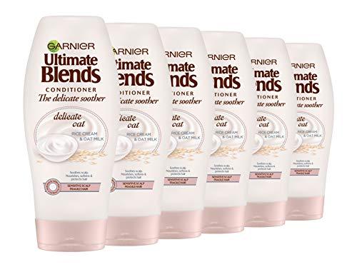 Garnier ultimate blends, avena, leche sensible cuero cabelludo Acondicionador, 360ml, pack de 6