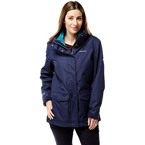 Craghoppers Waterproof Madigan III Women s Outdoor 3-in-1 Jacket available in Night Blue Forest Teal - Size 8