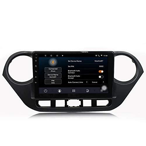 HYCy Coche Android 10.0 Navegación GPS DVD Radio Estéreo para Grand I10 2014-2019