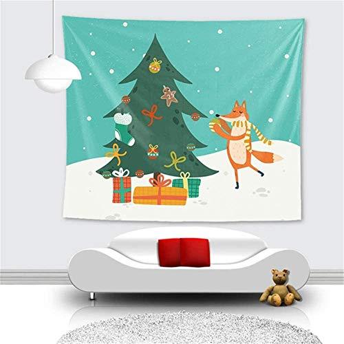 LDHHZ Tapiz Colgante de Pared Grande 3D Estampado Multicolor Arte hogar Dormitorio decoraci¨n tapices Indios FoxLiving Mantel de Sala de Estar 200x150cm