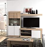 Mobelcenter - Mueble Salón Logan 005-215 x 39,8 x 170,5 cm- Blanco y Cambrian (0564)