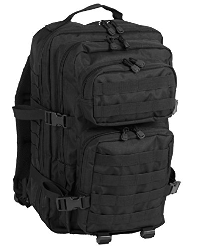 Mil-tec Black Backpack US Assult Large 36 Liter