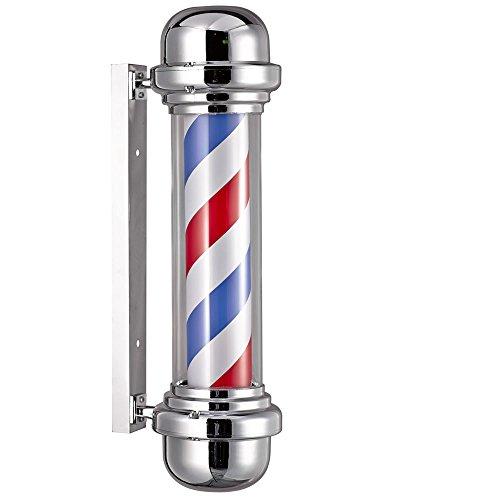 Poste de barbero profesional sin esfera luminosa para peluquería, 23x 68cm