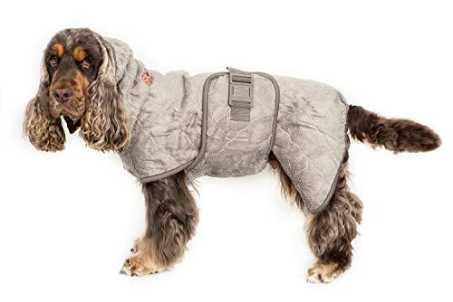 Siccaro Hundemantel WetDog | Extrem saugstarker Bademantel für Hunde | Anti-bakterielle Wirkung | Reduziert Gerüche | Waschmaschinen und trocknergeeignet (Sand, M)