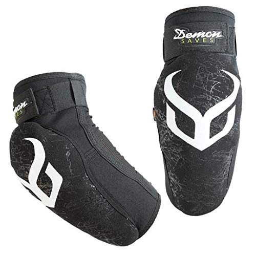 DEMON UNITED Hyper X D3O Elbow Pads- Mountain Bike Elbow Pads w/ D30 Impact Technology (Med)