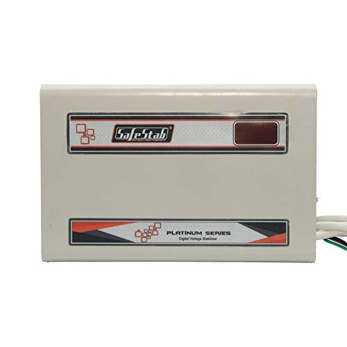 SAFE STAB Safestab Automatic Voltage stabilizer AC VST400D (150v - 270v) Double Booster Up to 1.5 ton Ac, Wall Mounted 3years Warranty (1year Product Replacement 2years Service Warranty)