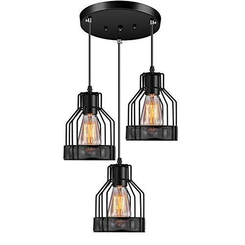Rustic 3-Lights Pendant Light Fixture for Kitchen