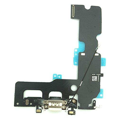 enoaFIX Dock Connector kompatibel mit iPhone 7 Plus Ladebuchse inklusive Lightning Anschluss, Mikrofon und Antenne in weiß