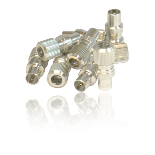 CDL Micro Male Coax/Coaxial TV Aerial Connector Plug for RF Cable/Freeview (Pack of 10)