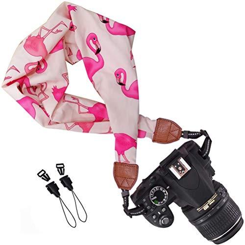 Cinturino Per Fotocamera Vintage - ZSWQ Tracolla per Fotocamera, Tracolla Stile Sciarpa Multifunzione, Ideali per Fotografi Professionisti in Attività All aperto,1PCS (Fenicottero)