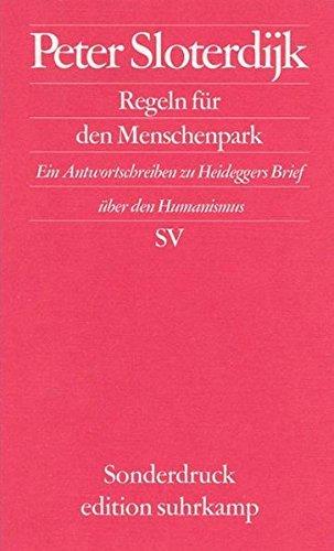 Regeln f?r den Menschenpark. by Peter Sloterdijk (1999-10-31)