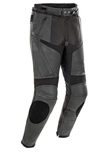 Joe Rocket Stealth Sport Herren Motorradhose aus Leder, Schwarz, Größe 34