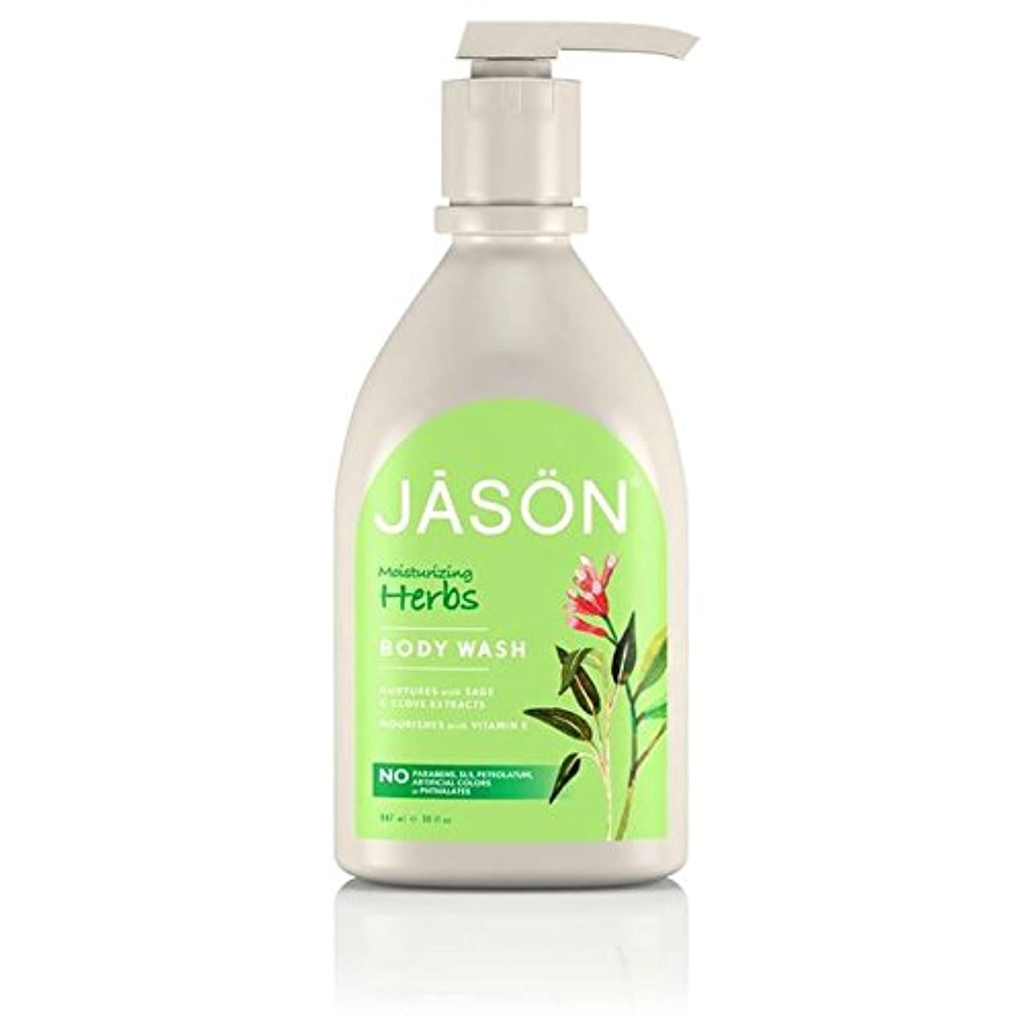 アーチ顕微鏡責Jason Herbal Satin Body Wash Pump 900ml (Pack of 6) - ジェイソン?ハーブサテンボディウォッシュポンプ900ミリリットル x6 [並行輸入品]