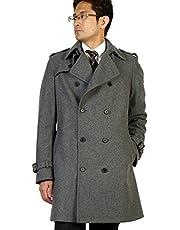洋服倉庫 特選 紳士 トレンチコート 起毛ウール ONとOFFのどちらも使用出来る兼用デザイン 使い回し ウールコート 紳士 コートRC39