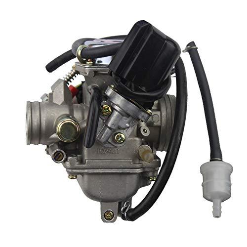 WOOSTAR PD24J Carburador 24mm Reemplazo para 4 Tiempos GY6 125cc 150cc Taotao ATV Scooter 157QMJ Motor