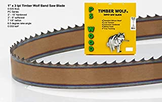 PS Wood Timber Wolf 131 1/2 x 1 x 3 tpi band saw blade
