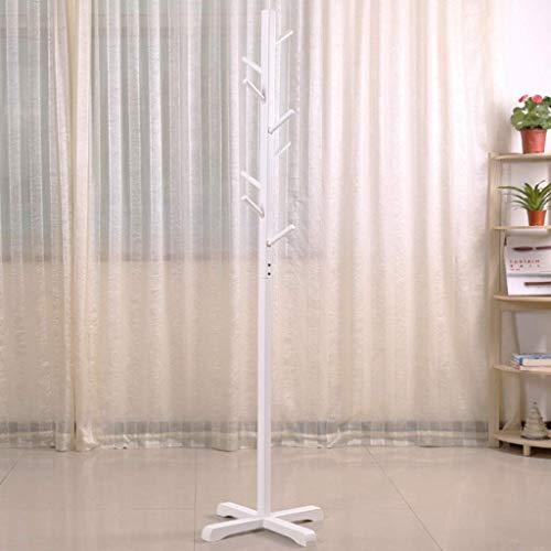 ZXL Kapstok, staande garderobe van hout, staand, takken voor slaapkamer, Europese stijl, met 8 haken voor kleding, sjaals, hoeden 177 cm (H) (kleur: D)