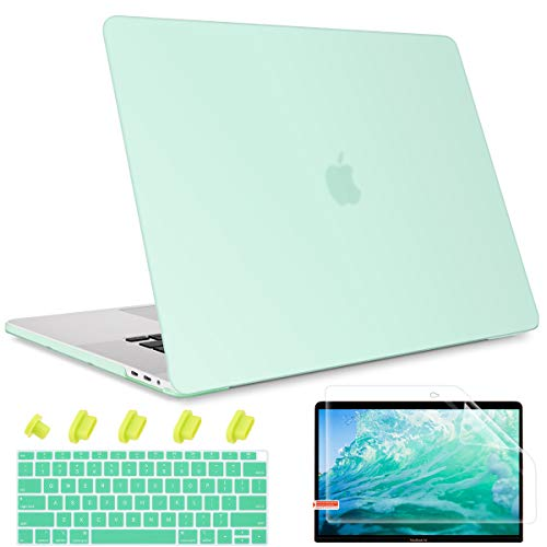 May Chen Smooth Matte Hard Shell Case Cover for MacBook Air 13 inch Retina Display & Touch ID A2337 M1 A2179 A1932 2018 2019 2020 Release, Keyboard Cover, Light Green