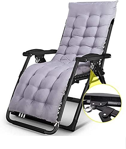 Silla de gravedad cero reclinable silla reclinable silla plegable silla de salón silla plegable casa balcón jardín sillón oficina oficina cama portátil al aire libre playa camping sol tumbonas, almoha