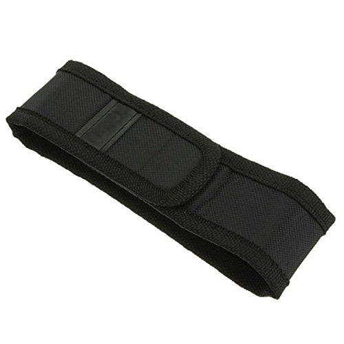 Global Schwarz Holster Cover Tasche für LED Taschenlampe 150mm x 30mm