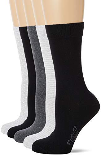 Schiesser Damen Multipack 5 Pack Damensocken Strümpfe Socken, Sortiert 1, 35/38 (5er Pack)