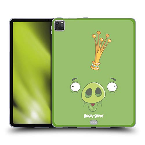 Head Hülle Designs Offiziell Zugelassen Angry Birds King Pig Volles Gesicht Soft Gel Handyhülle Hülle Huelle kompatibel mit Apple iPad Pro 12.9 (2020/2021)