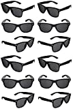 Black Sunglasses Bulk Party Favors 12 Pack Retro Black Sunglasses Exactly What Your Looking For-Graduation Mardi Gras Wedding Bachelorette Bachelor Party Adult Kids-New Great Quality
