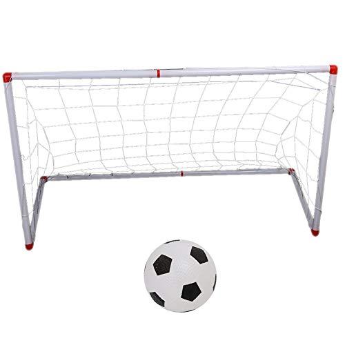 Alomejor Mini Soccer Set Kids Tragbares Trainingsfußballtor mit Ballpumpe Mini Fussballtor(106cm)
