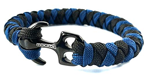 Mokikoki - Anchor bracelet Blue/black