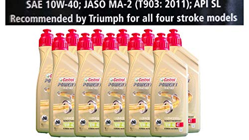 Castrol Power 1 Racing 4T 10W-40 motorolie 11x1 liter Specificaties API SJ JASO MA2