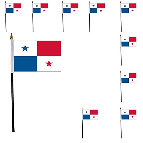 Sonia Originelli 10er Set Mini Flaggen WM Fußball 10x15 cm Party Anfeuern Fahnen Farbe Panama