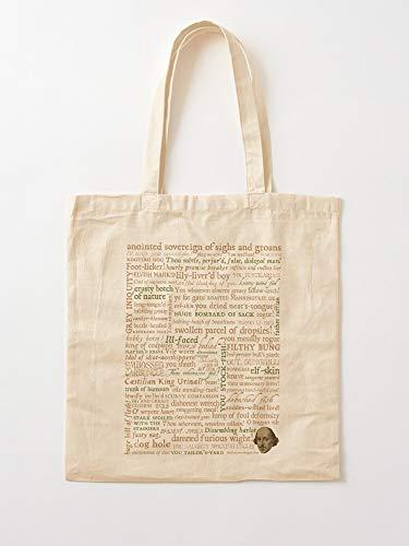 Quotes Shakespeare Literature Incognita Writers Collection Insults Tote Cotton Very Bag | Bolsas de supermercado de lona Bolsas de mano con asas Bolsas de algodón duraderas