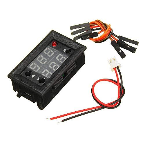 Yongenee 5pcs generador de señal de PWM Pulso Ciclo de frecuencia Módulo Ajustable con Pantalla LCD de 1 Hz-160kHz 4V-30V-5 mA a 30 mA módulo de medición