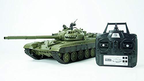 ES-TOYS RC Panzer Russicher T-72 Heng Long 1:16 mit Rauch&Sound und Stahlgetriebe -2,4Ghz V6.0 (Upgrade)