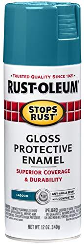 Rust-Oleum 277239 Stops Rust Spray Paint, 12 Oz, Gloss Lagoon, 12 Ounce