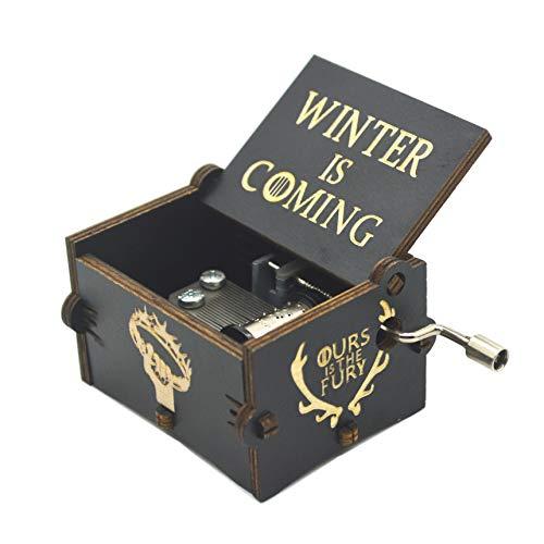 Y&S - Carillon in legno con manovella e incisione di Star Wars, idea regalo per bambini, Legno, game of thrones