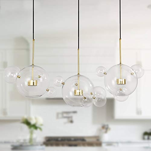 Edislive Soap Bubble Chandeliers With 3 Glass Pendant Light 14 Glass Globe Pendant Ceiling Light For Kitchen Island Lights Fixture Long Canopy Buy Online In Bermuda At Bermuda Desertcart Com Productid 180076418