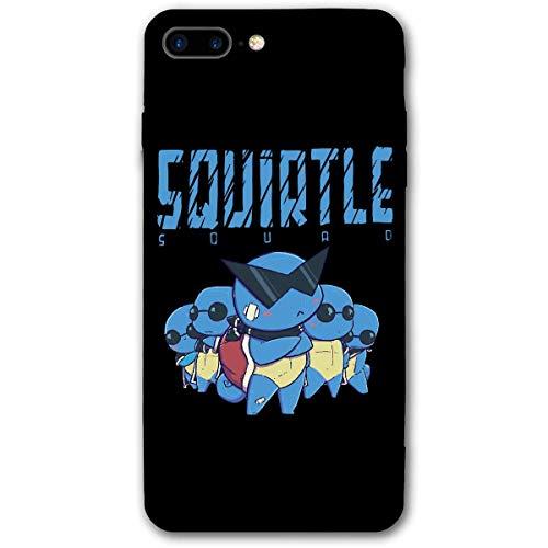 Compatibile con iPhone 12/11 PRO Max 12 Mini SE X/XS Max XR 8 7 6 6s Plus Custodie Squirtle Squad Nero Custodie per Telefoni Cover