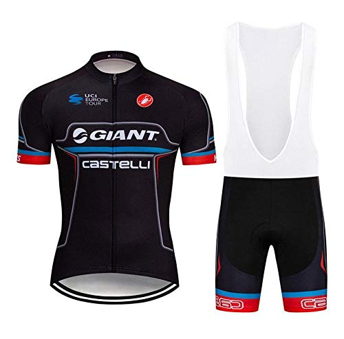 WOLFIRE WF Traje de Ciclismo para Hombre de Equipos. Culotte y Maillot. con 5D Gel Pad. para MTB, Spinning, Bicicleta de Carretera (Gi ALP, 3XL)