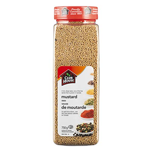Club House, Quality Natural Herbs & Spices, Mustard Seed, 750g
