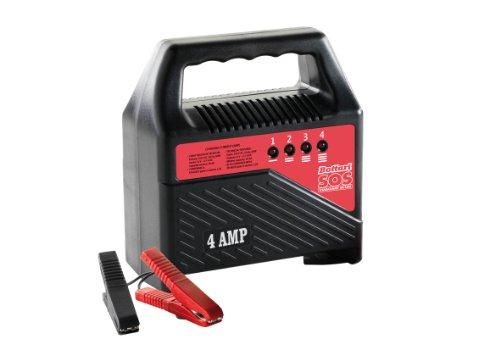 SOS 35175 Batterieladegerät 4 Ampere mit Universalem Stecker, 230 V - 12 V