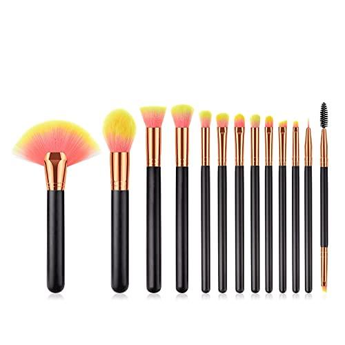 Kfhfhsdgsahzs Brochas de Maquillaje, 13 unids Maquillaje Pinceles Conjunto fundación Polvo Rubor de Ojos Maquillaje Maquillaje Pinceles portátiles portátiles Suave Maquillaje Pinceles (Size : B)