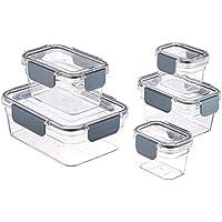 AmazonBasics – Recipiente hermético para alimentos de Tritan, 10 piezas